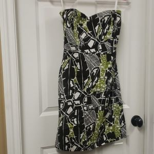 Banana Republic Strapless linen dress EUC
